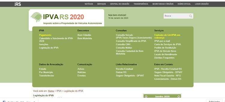 ipva RS 2020